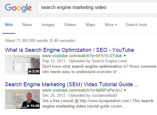 YouTube SEO Google Rankings